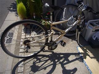 自転車 変速機ワイヤー交換